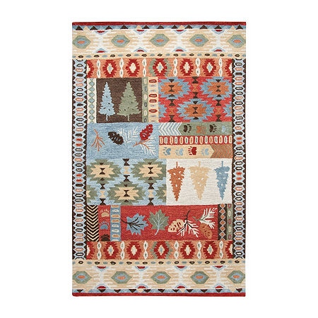 Rizzy Home Northwoods Collection Ackerley Hand-Tufted Area Rugs, One Size , Red