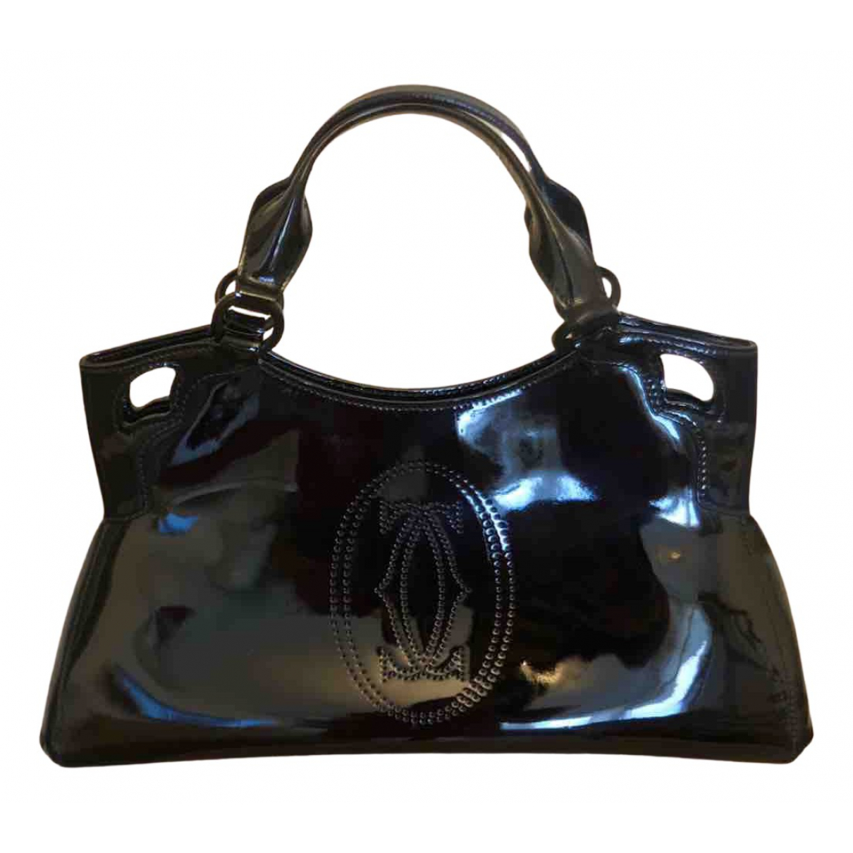 Cartier Marcello Black Patent leather handbag for Women N