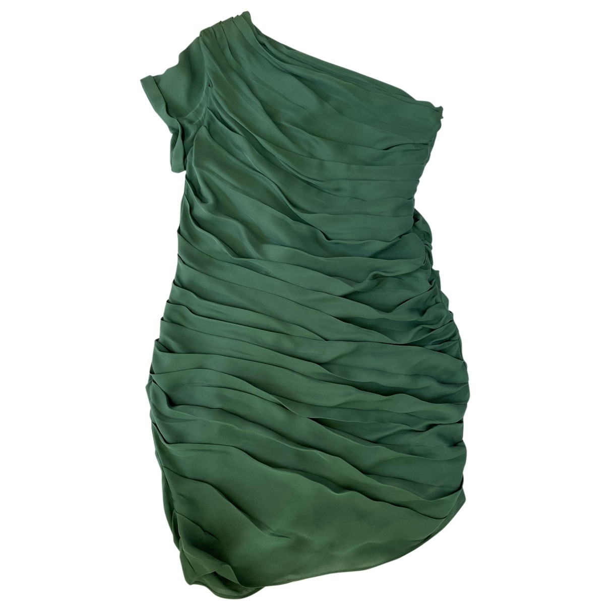 Halston Heritage - Robe   pour femme en soie - vert