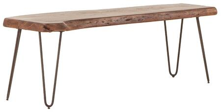 Grandby Collection ZWGAN542WN 54-Inch Acacia Wood Dining Bench in Walnut Finish in