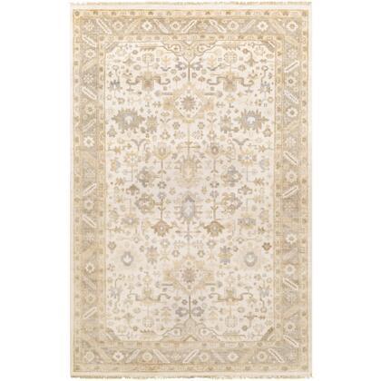 Sabine SBN-1000 9' x 13' Rectangle Traditional Rug in Khaki  Cream  Camel  Medium