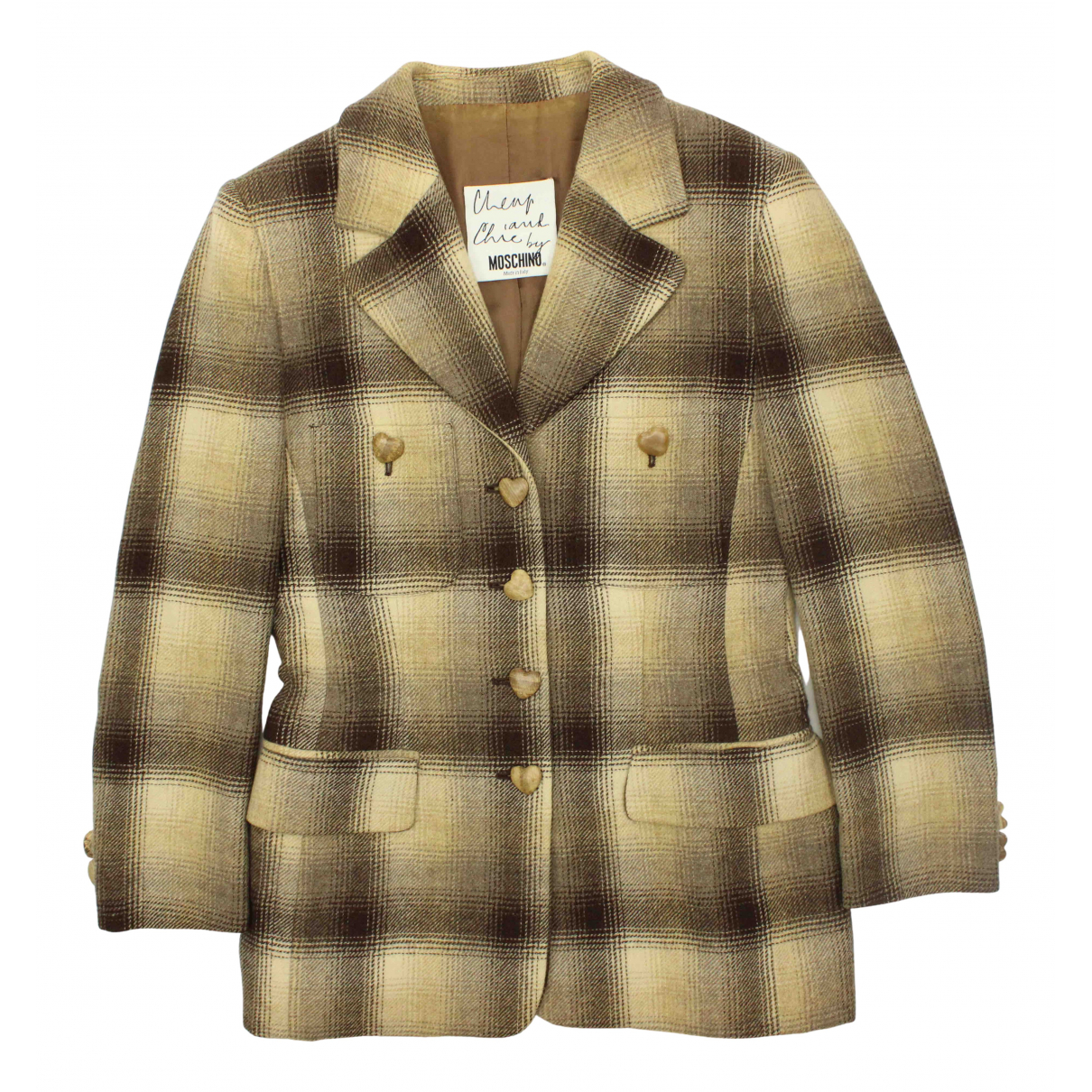 Moschino Cheap And Chic N Beige Wool jacket for Women 42 IT