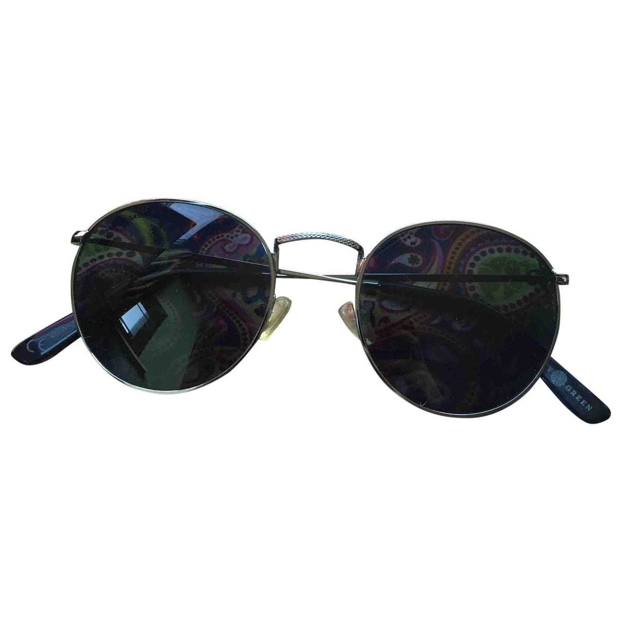 Pretty Green \N Silver Metal Sunglasses for Men \N