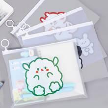 4pcs Random Cartoon Graphic File Pocket