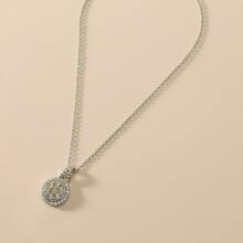 Collar con diamante de imitacion