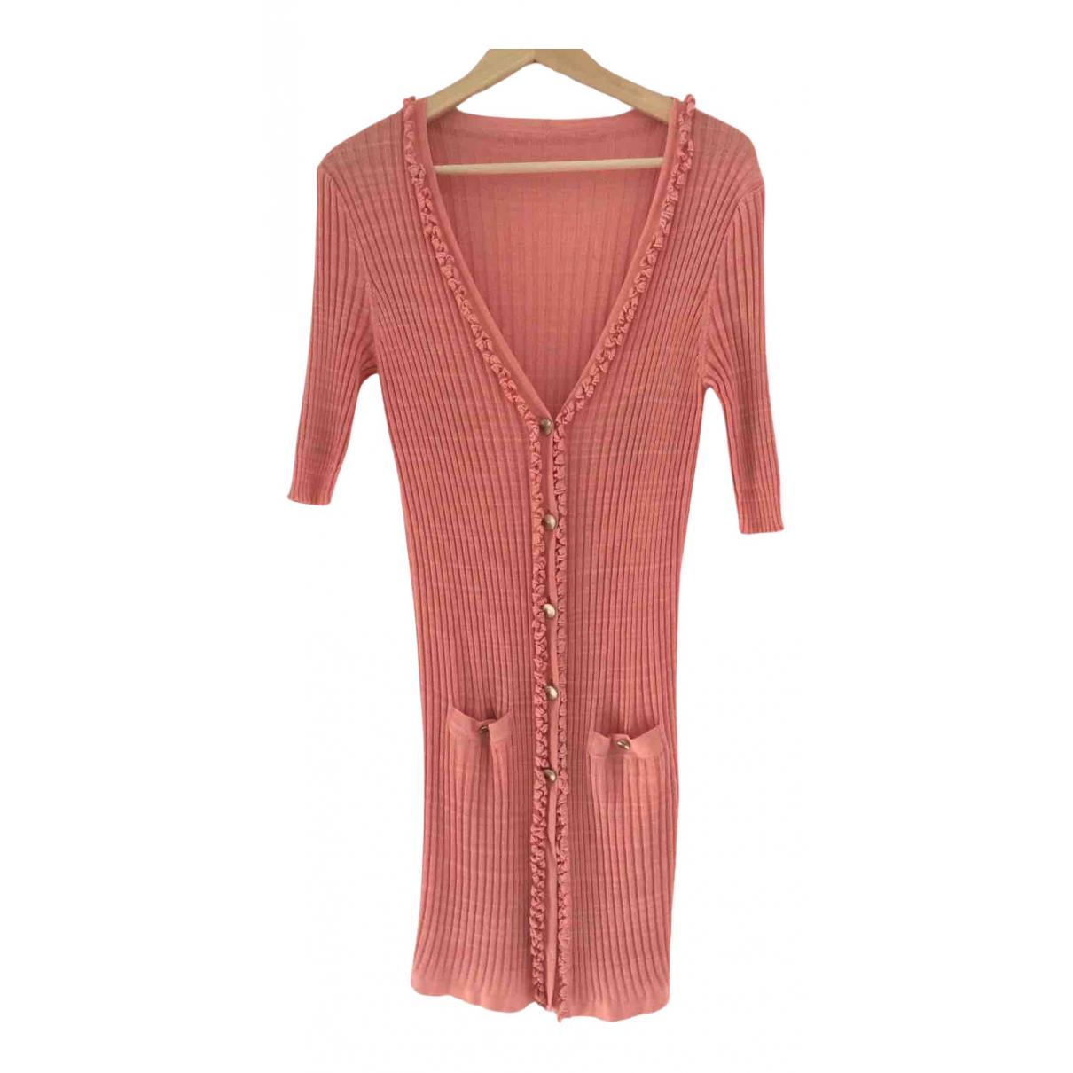 Chanel - Pull   pour femme en coton - rose