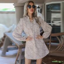 Vestido tunico con estampado