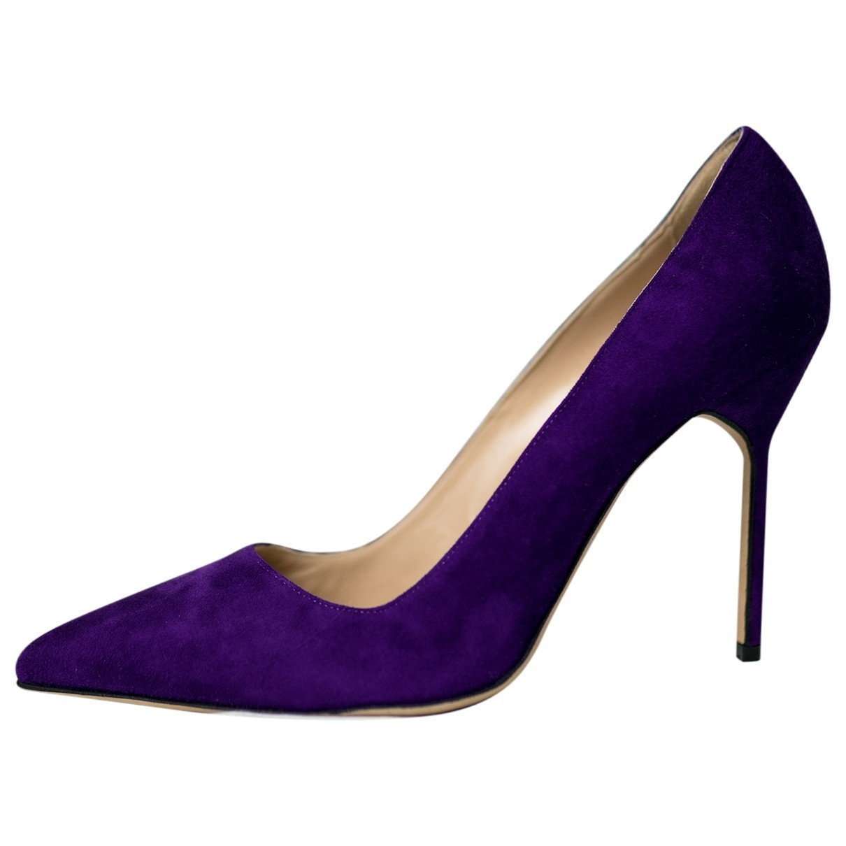 Manolo Blahnik \N Purple Suede Heels for Women 39.5 EU