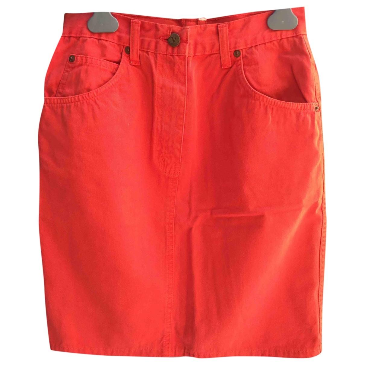 Valentino Garavani - Jupe   pour femme en coton - rouge