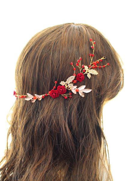 Milanoo Tocados Boda Accesorios para el cabello nupcial chapados
