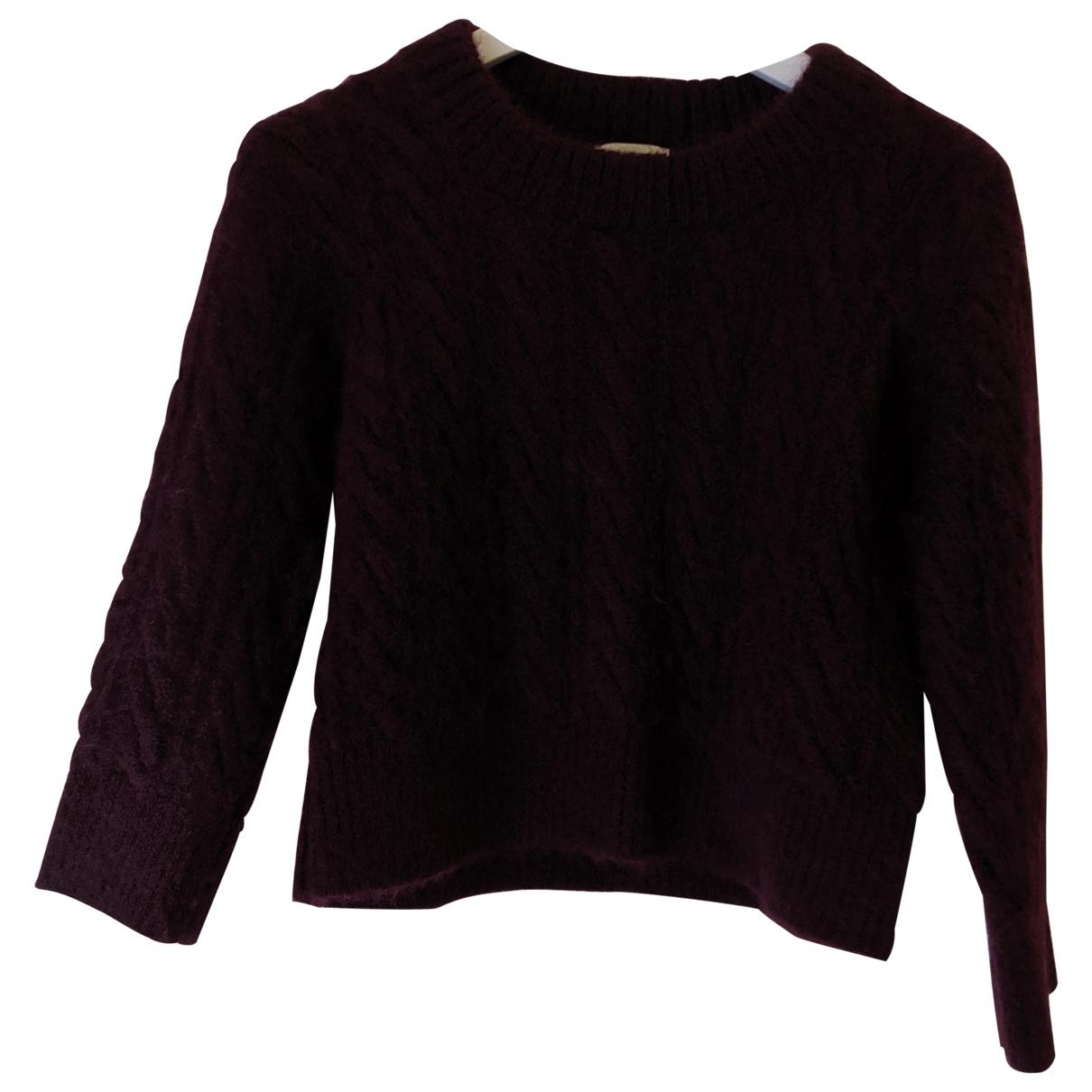 Erdem X H&m \N Pullover in  Bordeauxrot Wolle