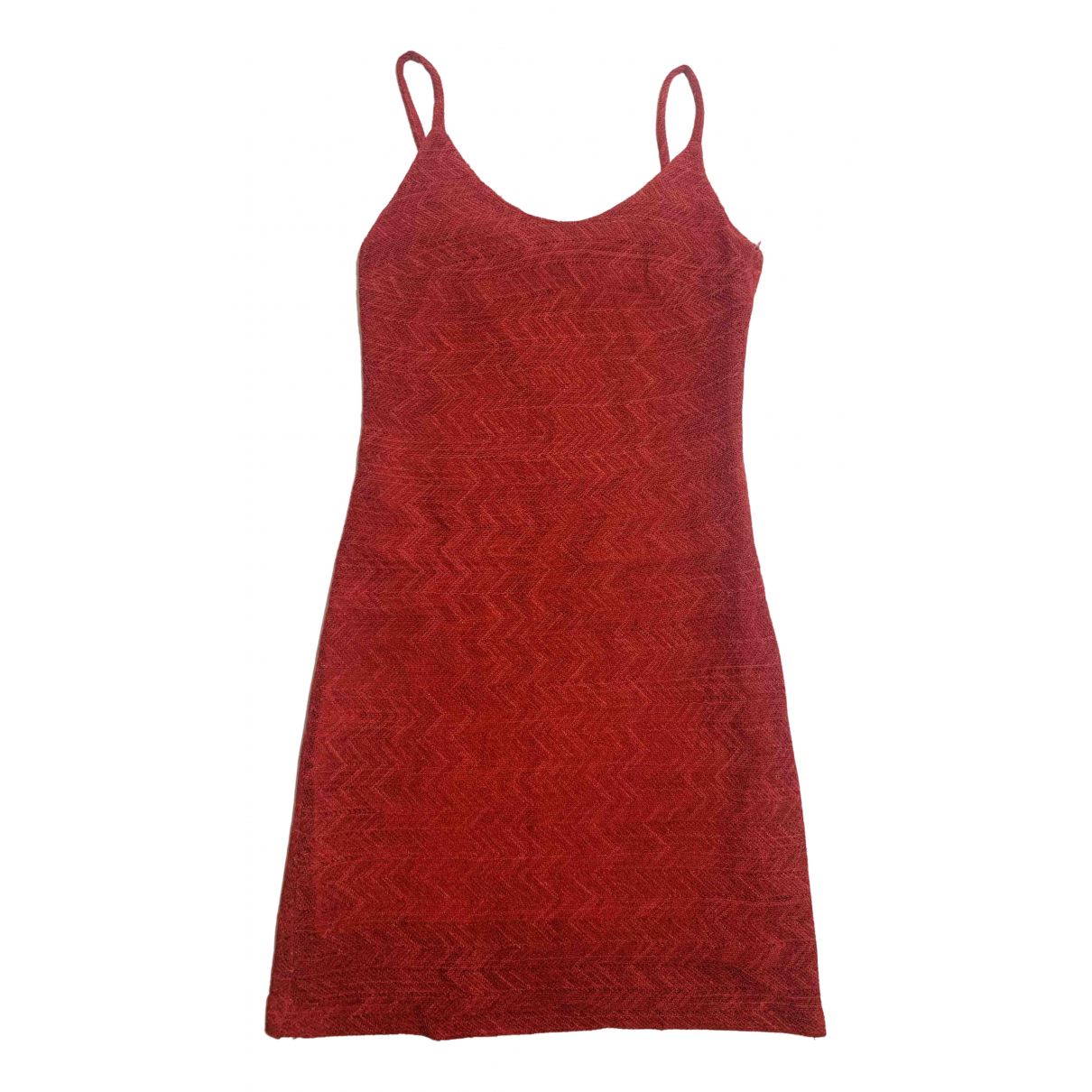 Non Signé / Unsigned N Red Cotton dress for Women 42 IT