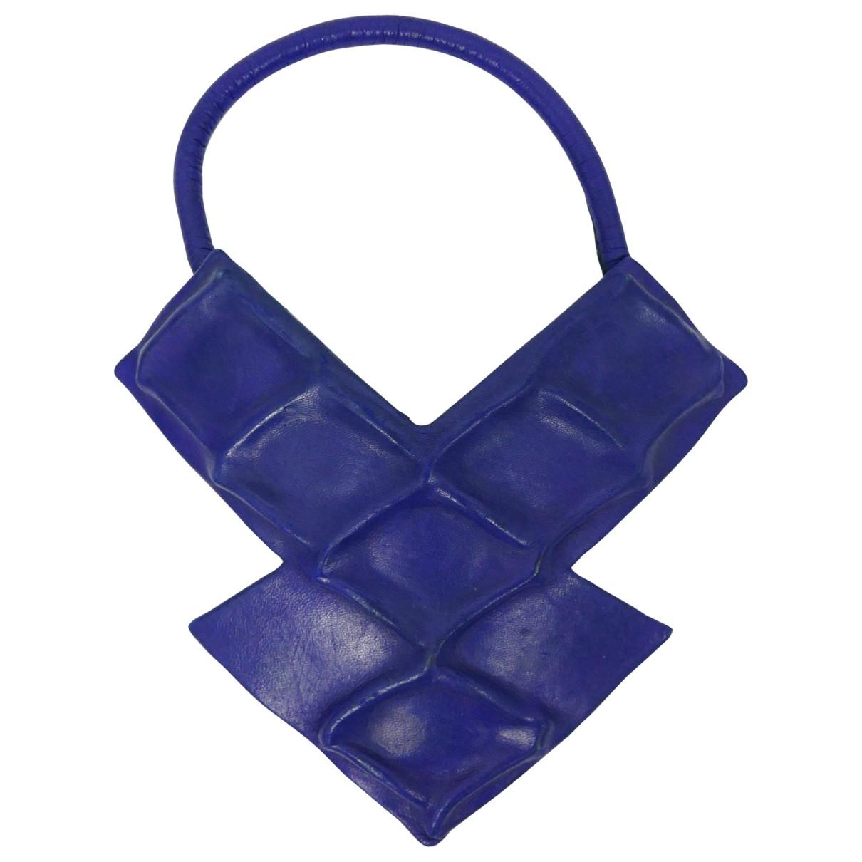 Pierre Cardin \N Kette in  Blau Leder