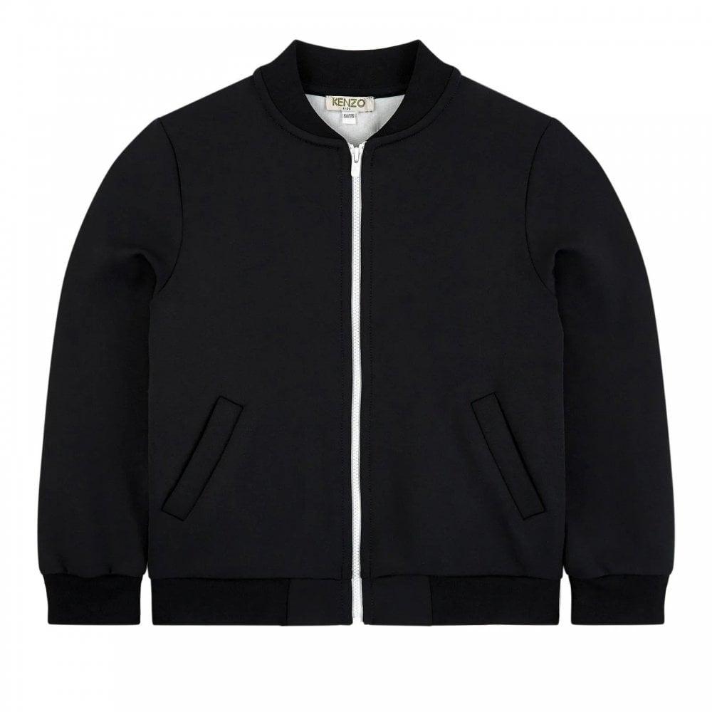 Kenzo Kids Back Logo Cardigan Colour: BLACK, Size: 10 YEARS
