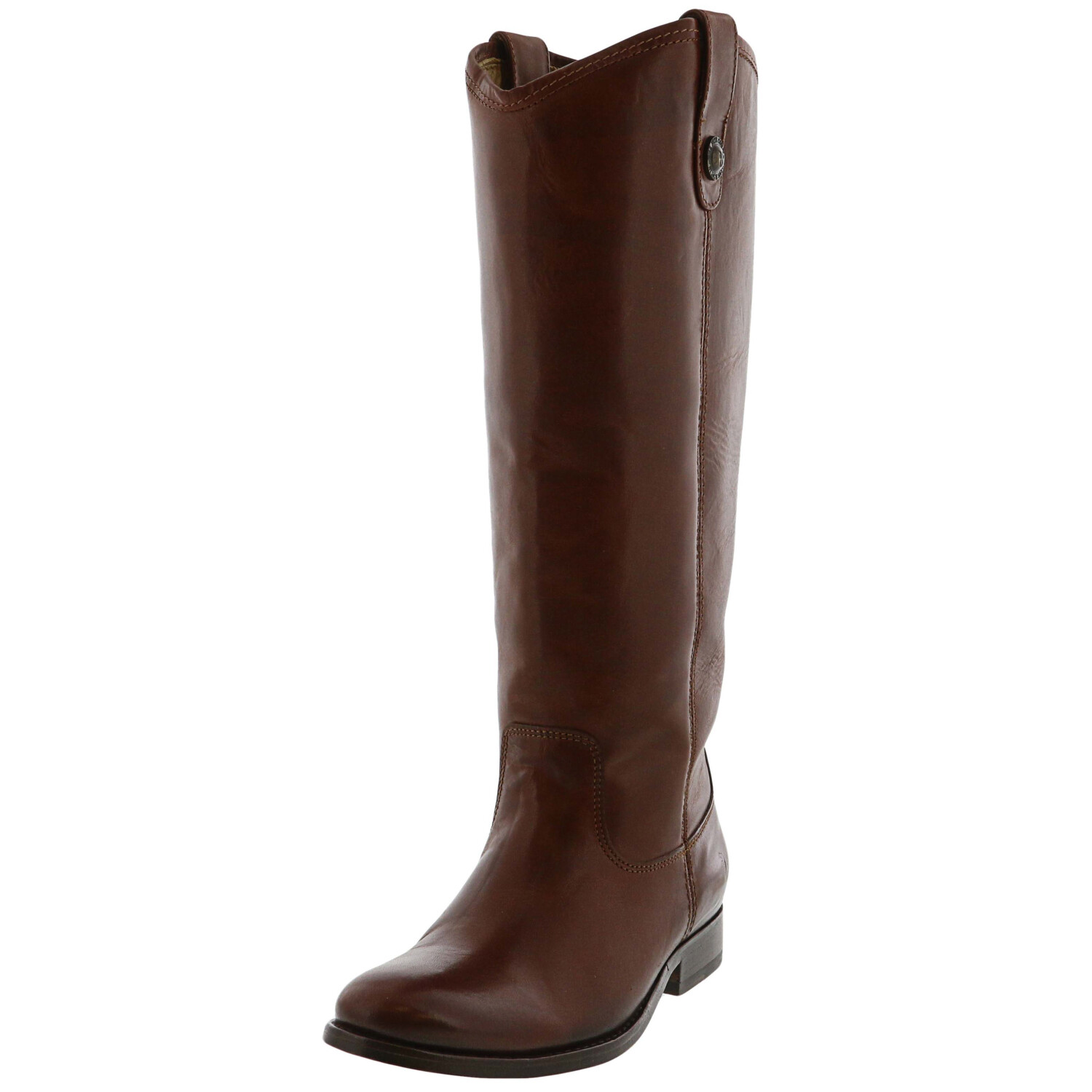Frye Women's Mellissa Button Cognac Knee-High Leather Boot - 5.5M