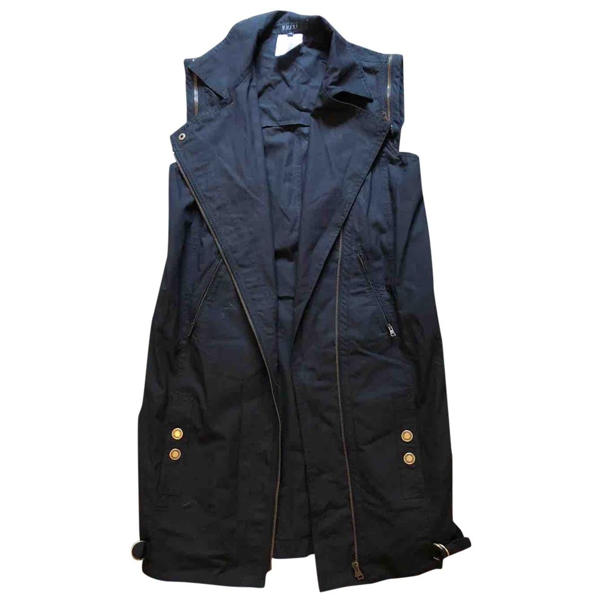 Gucci - Veste   pour femme en coton - noir