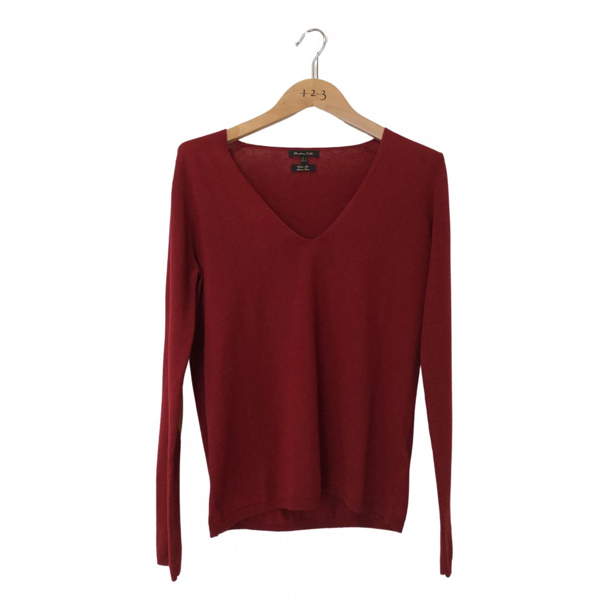 Massimo Dutti \N Burgundy Cotton Knitwear for Women S International
