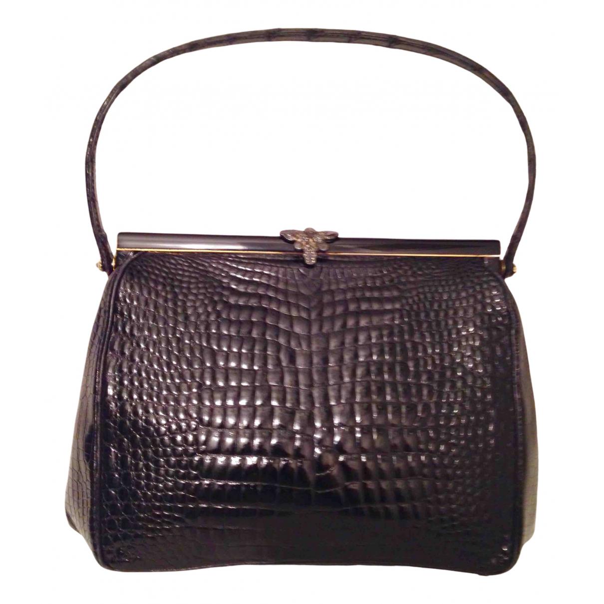 Alfred Dunhill N Brown Crocodile handbag for Women N