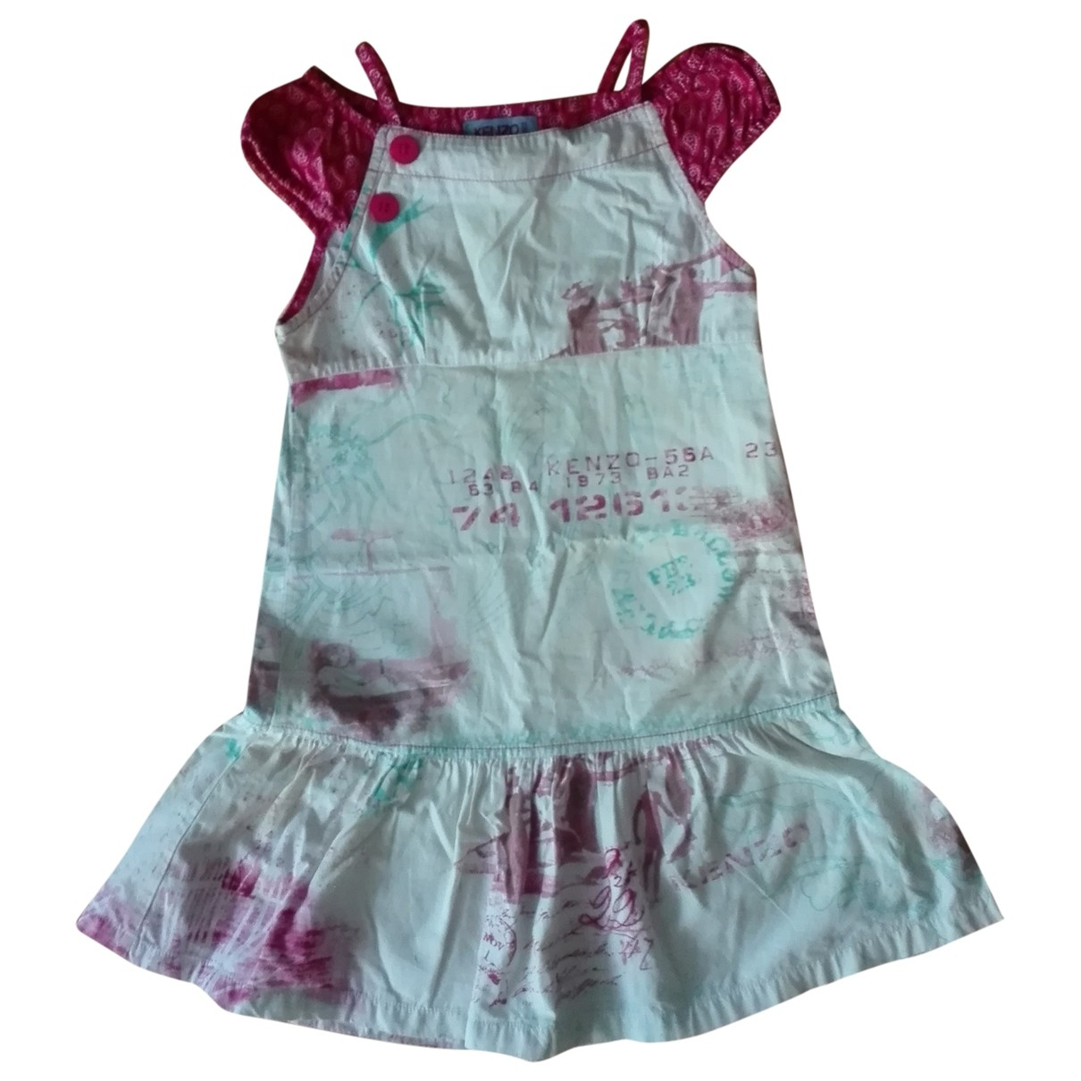 Kenzo - Robe    pour enfant en coton - ecru
