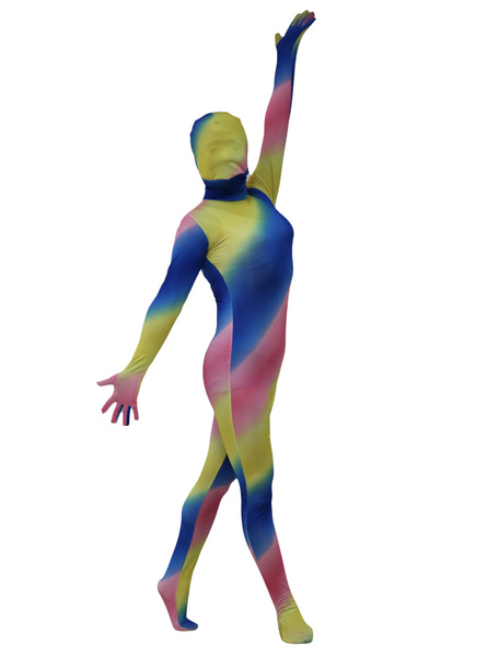 Milanoo Multi Color Zentai Suit Full Body Lycra Spandex Bodysuit for Women