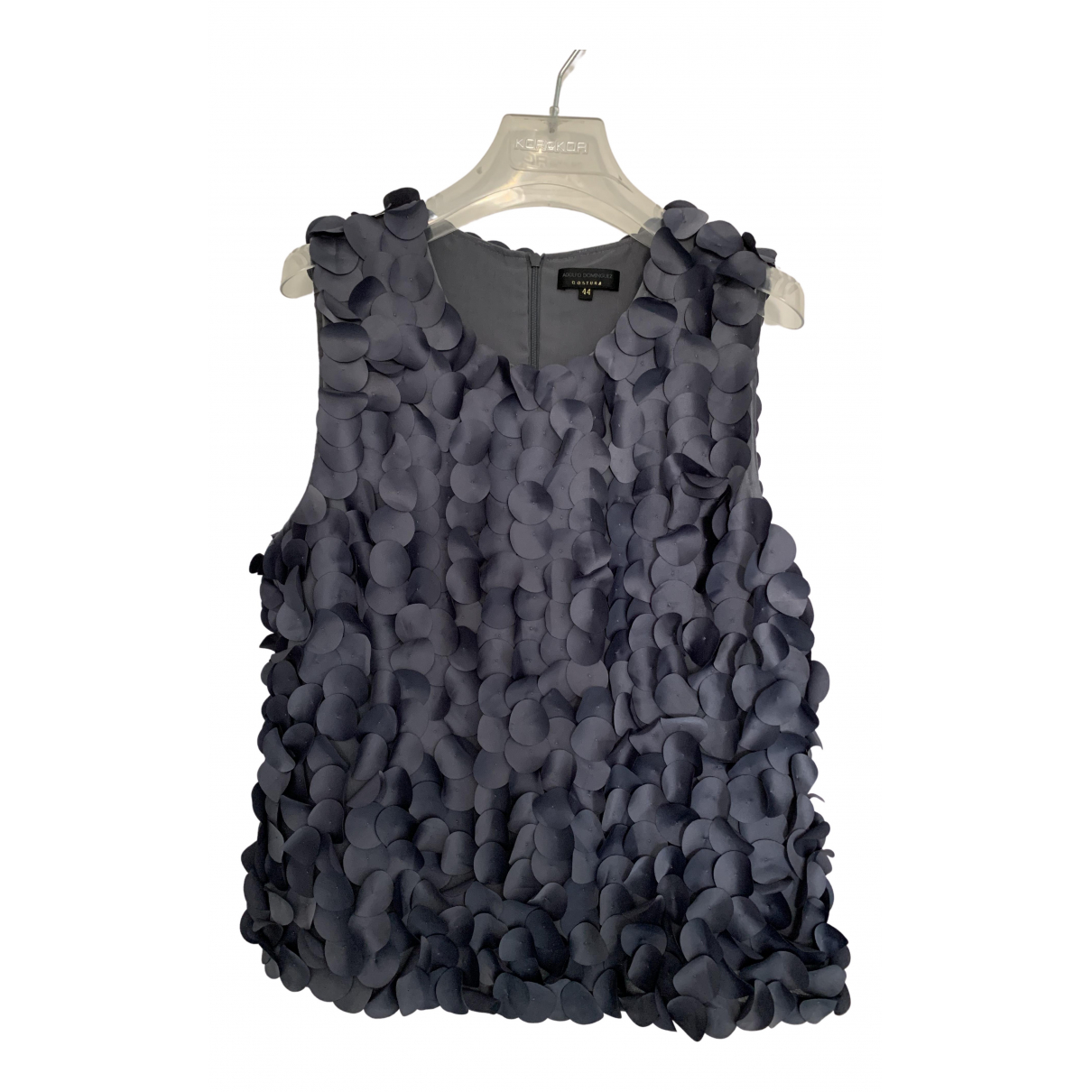 Adolfo Dominguez N Grey  top for Women 44 IT