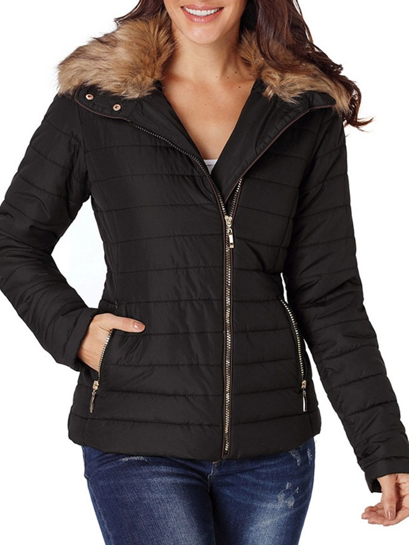 Ericdress Long Sleeve Zipper Slim Standard Winter Jacket