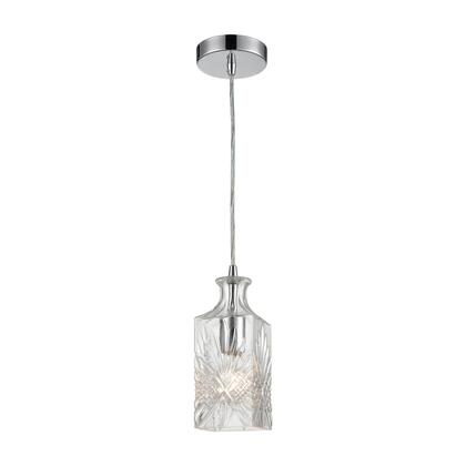 1122-054 Twickenham Square Pendant  In Clear