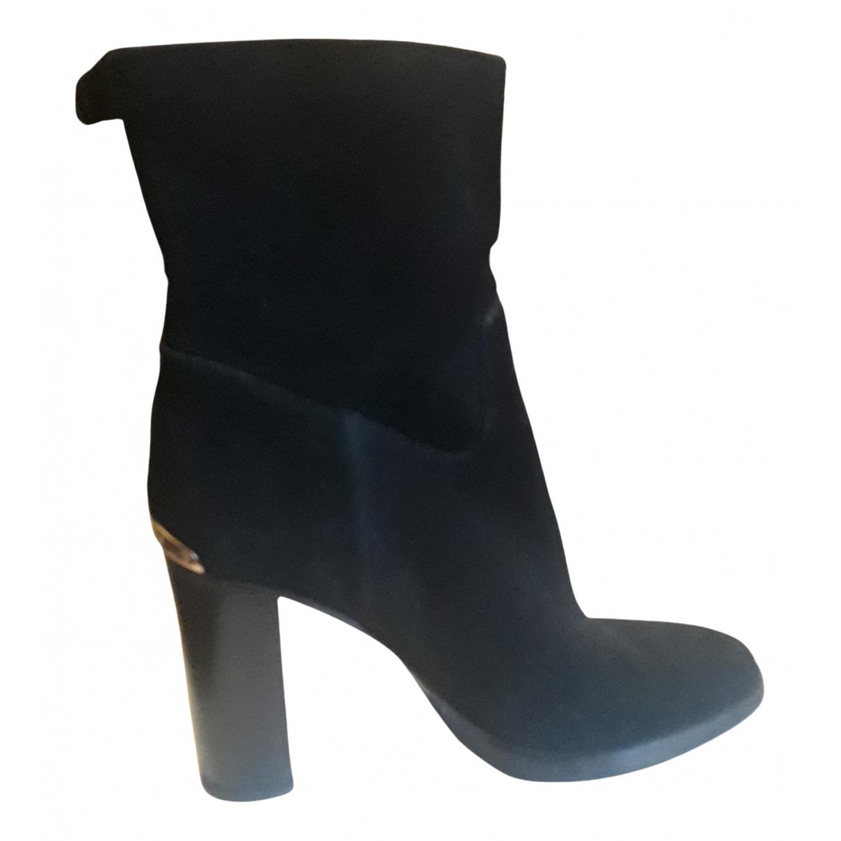 Michael Kors - Boots   pour femme en suede - noir