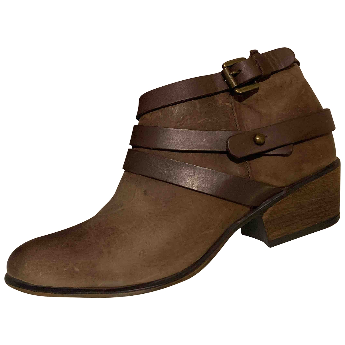 Steve Madden \N Brown Leather Ankle boots for Women 7 US
