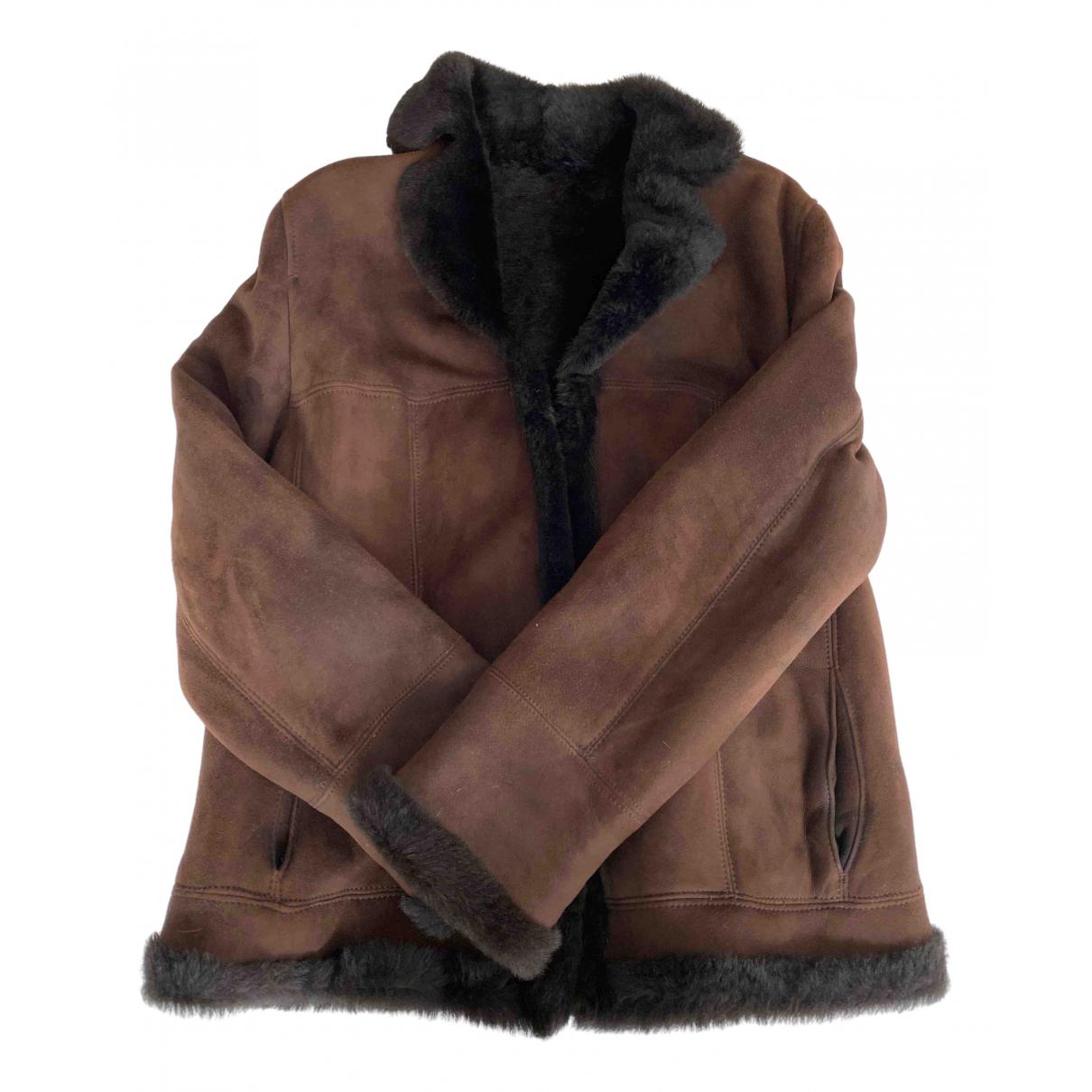 Marella - Veste   pour femme en mouton - marron