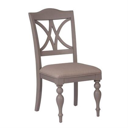 Summer House Collection 407-C9001S Side Chair with Upholstered in Linen  Turned Legs and Nylon Chair Glides in Dove Grey