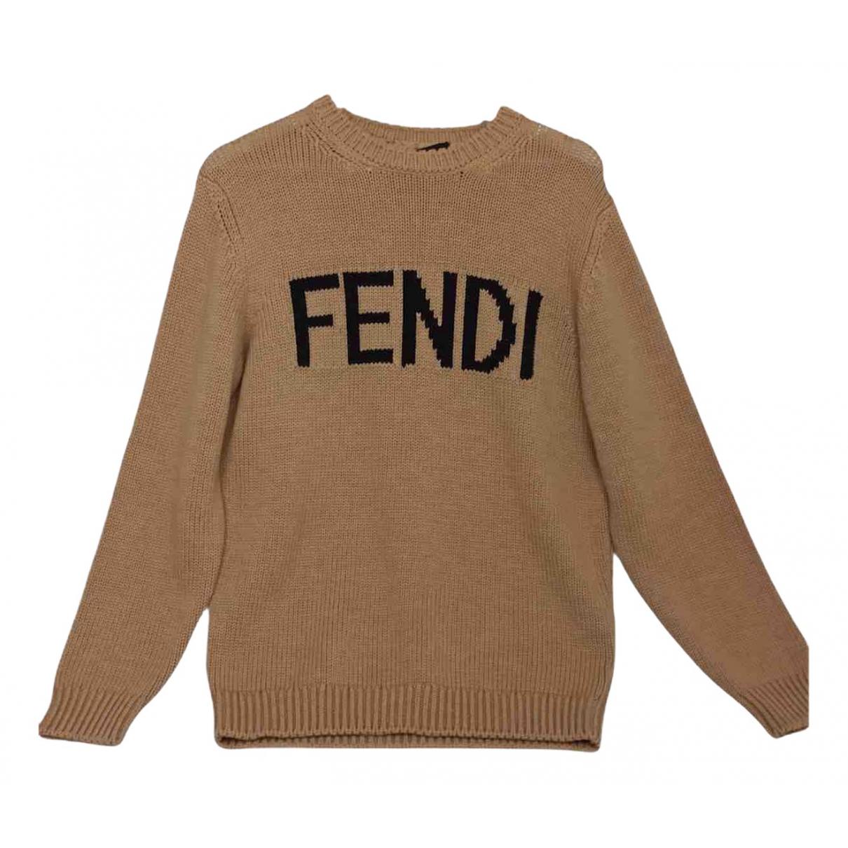 Fendi \N Pullover.Westen.Sweatshirts  in  Beige Wolle