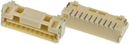 Molex , CLIK-Mate, 502382 1.25mm Pitch 10 Way 1 Row Straight PCB Socket, Surface Mount, Solder Termination (10)