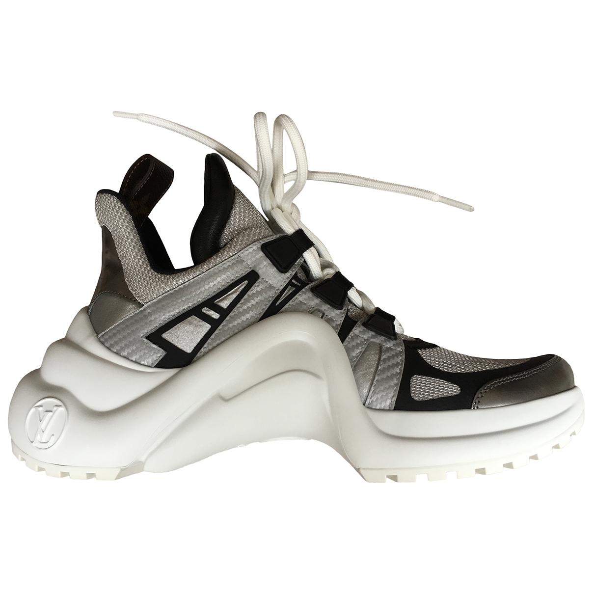 Louis Vuitton Archlight Sneakers in  Grau Leder