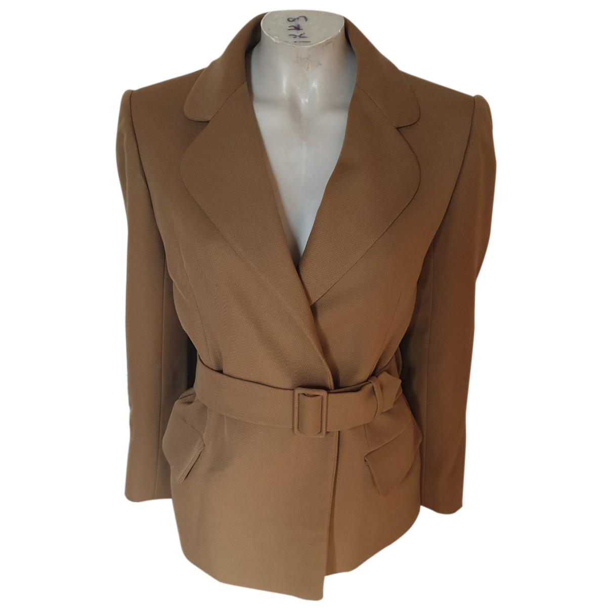 Jean Patou N Camel Cotton jacket for Women 38 FR