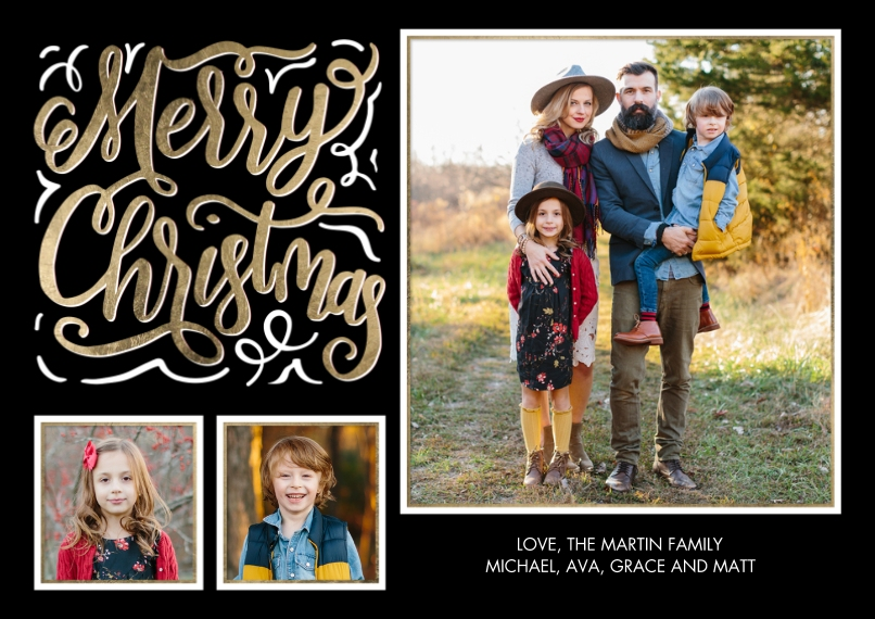 Christmas Photo Cards 5x7 Cards, Standard Cardstock 85lb, Card & Stationery -Christmas Chalkboard Greeting by Tumbalina