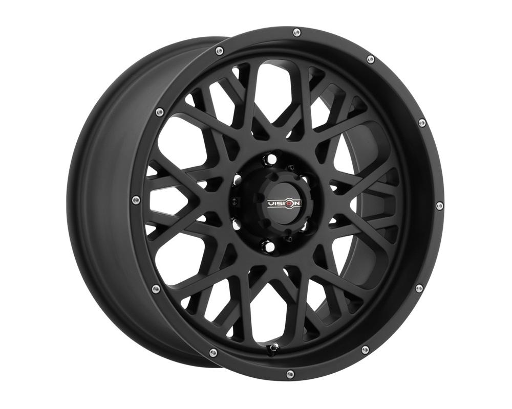 Vision Rocker Satin Black Wheel 24x12 8x180 -51