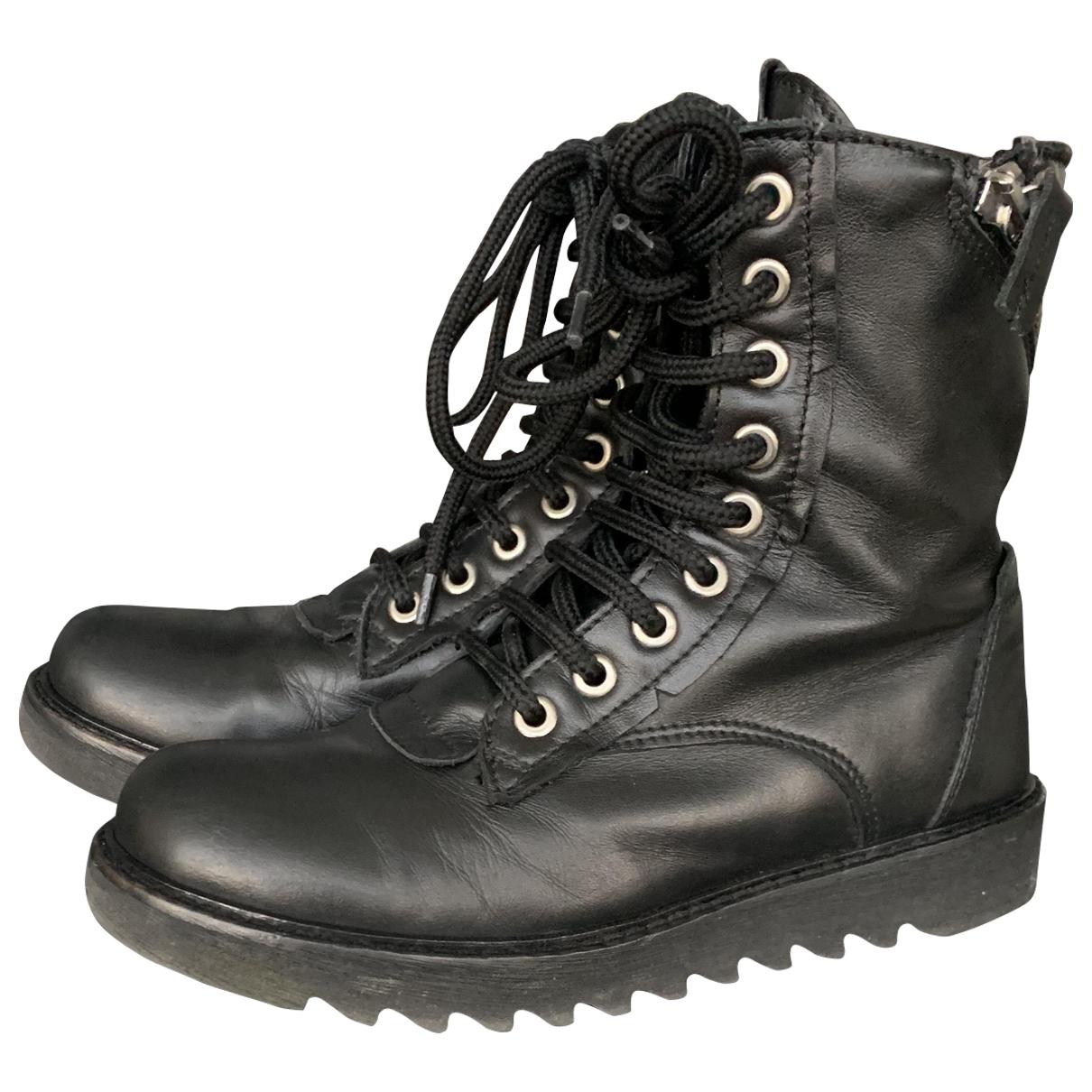 Cinzia Araia \N Black Leather Boots for Kids 30 EU