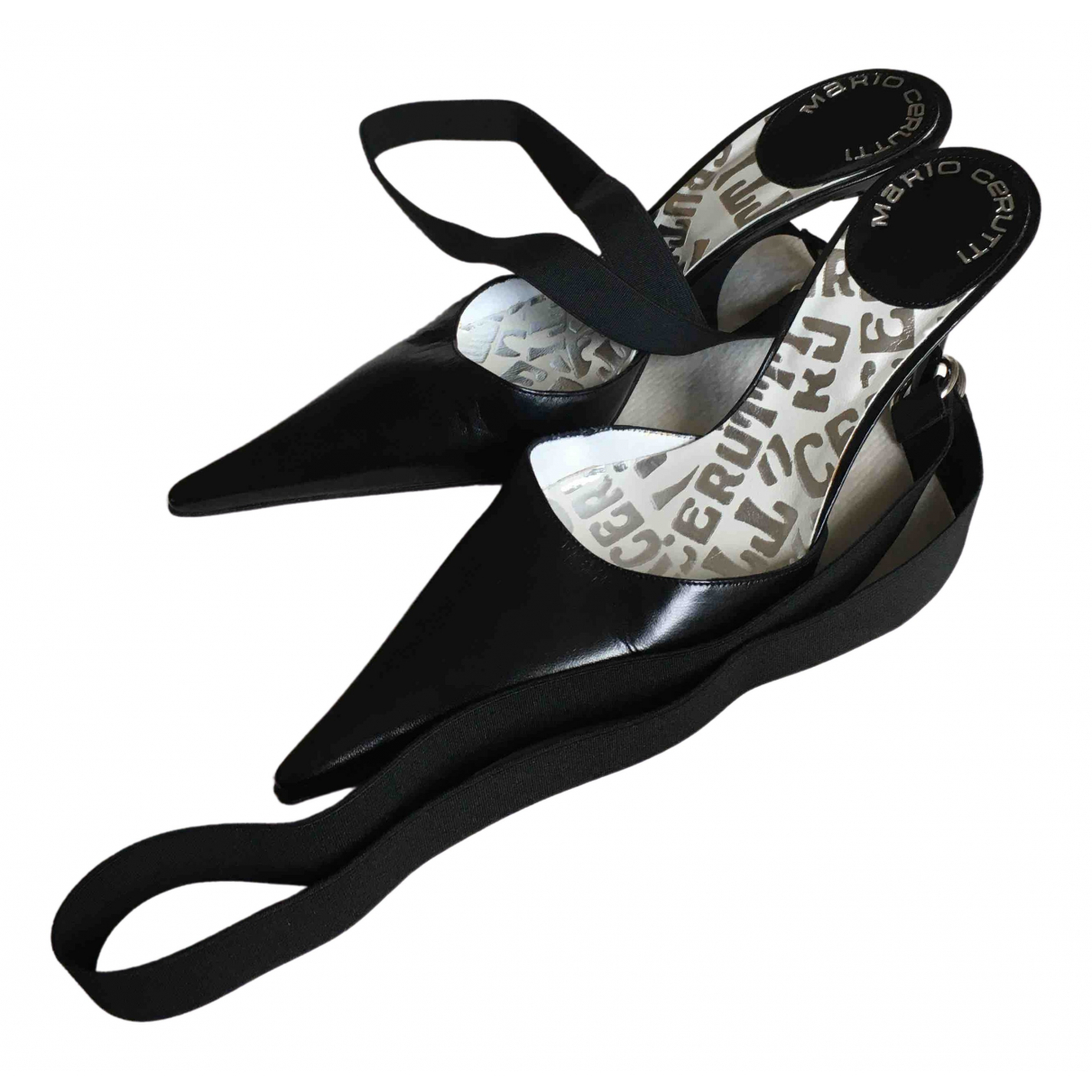 Cerruti \N Black Leather Heels for Women 36 IT