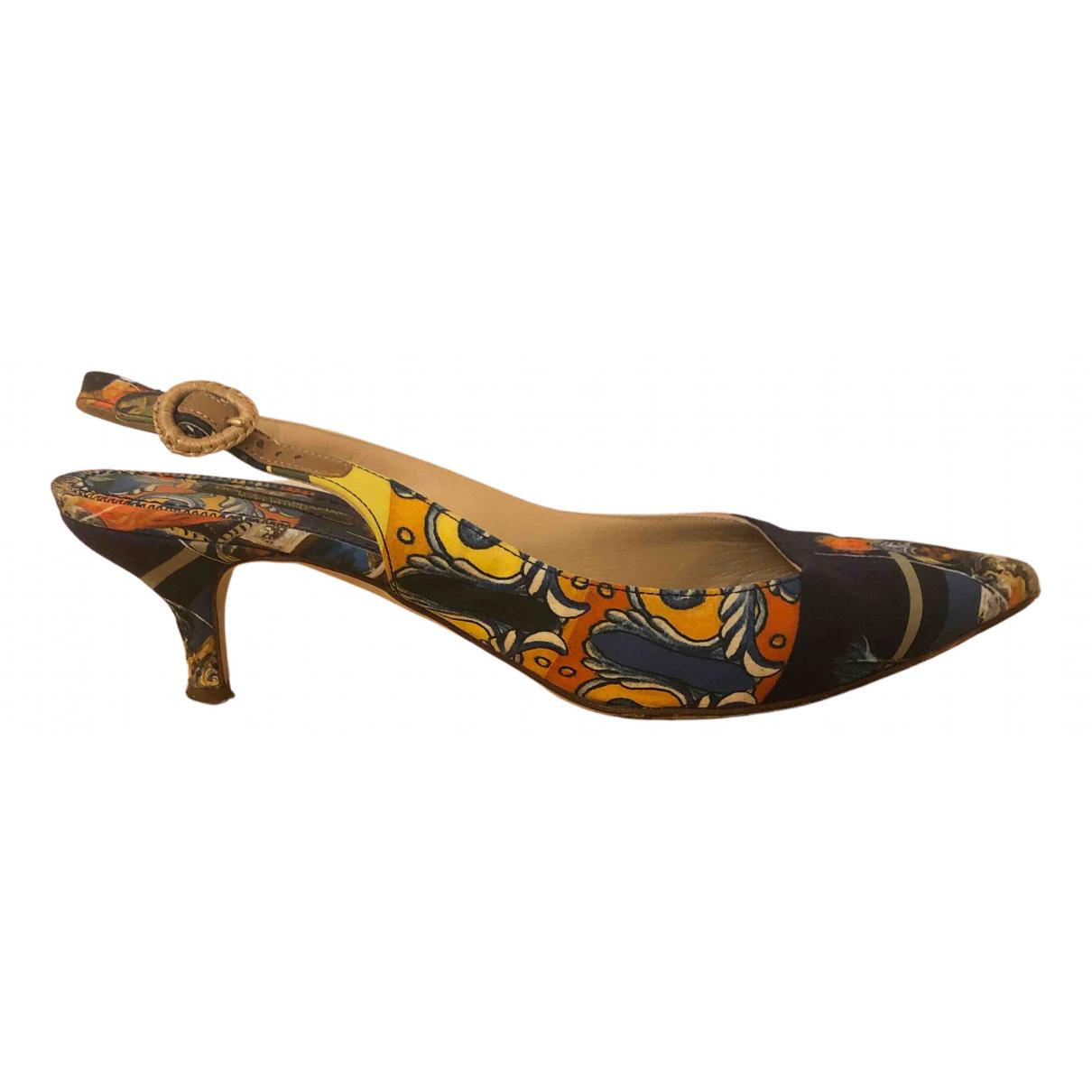 Dolce & Gabbana - Escarpins   pour femme en toile - multicolore