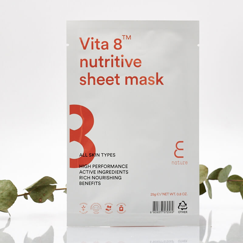 E NATURE Vita 8 Nutritive Sheet Mask