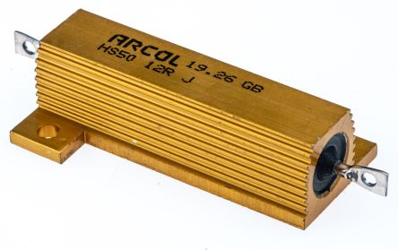 Arcol HS50 Series Aluminium Housed Axial Wire Wound Panel Mount Resistor, 12Ω ±5% 50W (20)