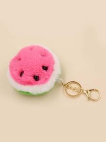 Watermelon Hairball Key Chain