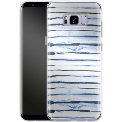 Samsung Galaxy S8 Plus Silikon Handyhuelle - Electric Lines White von Ninola Design