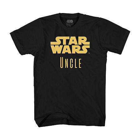 Mens Star Wars Uncle Graphic T-Shirt, Large , Black