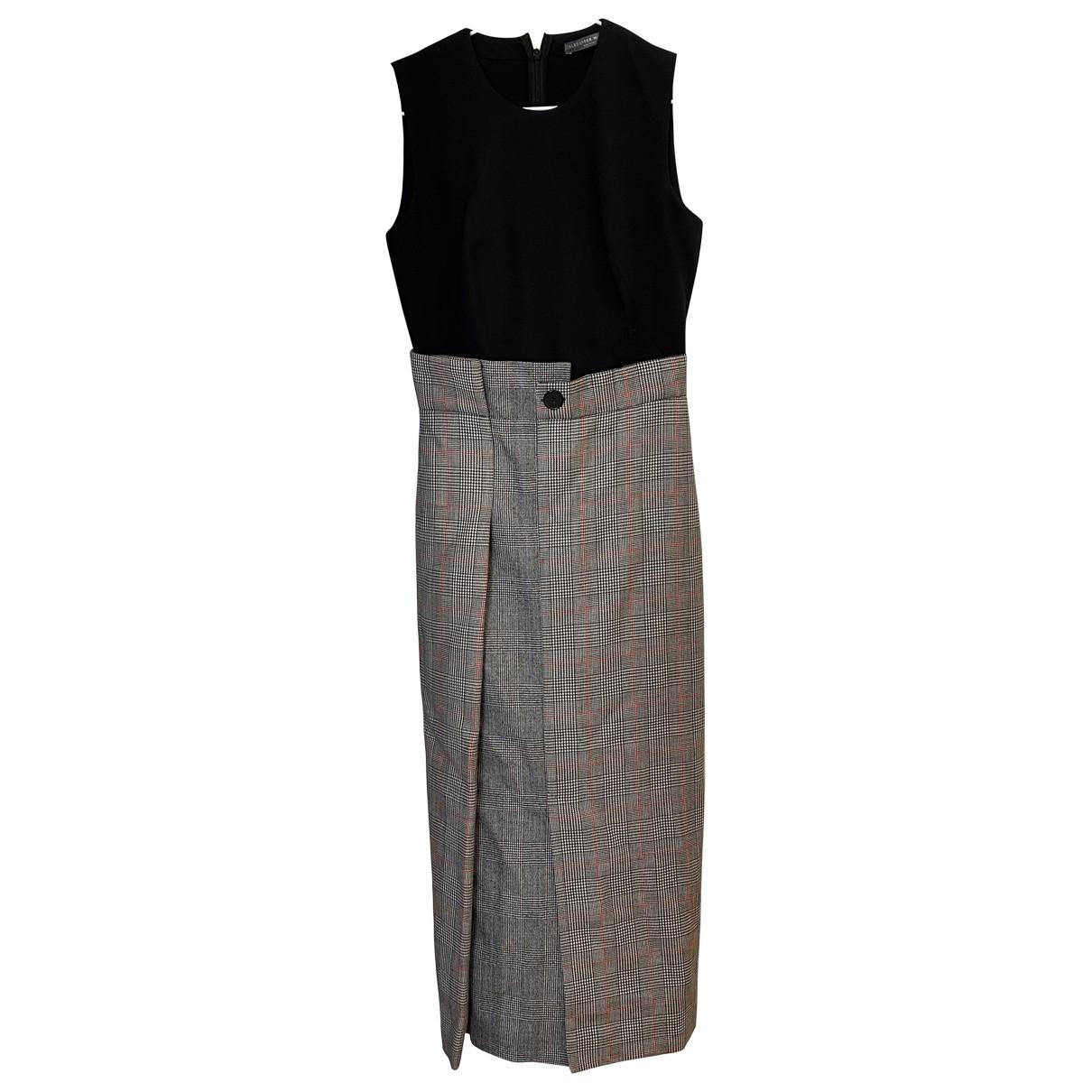 Alexander Mcqueen \N Black Wool dress for Women 38 IT