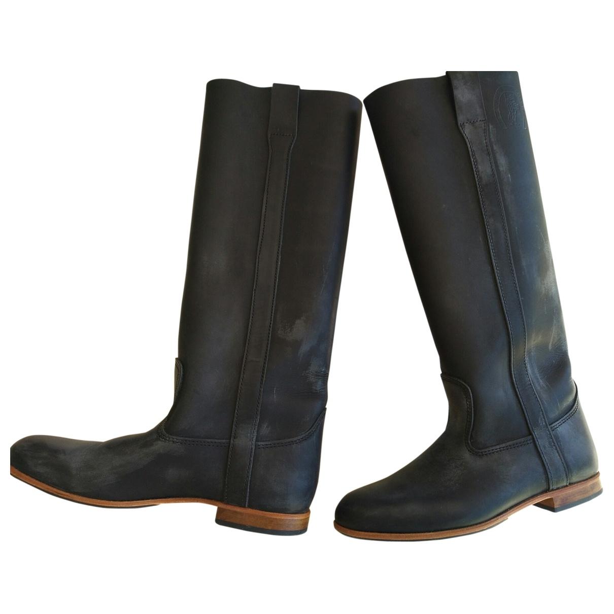 La Botte Gardiane \N Black Leather Boots for Women 39 EU
