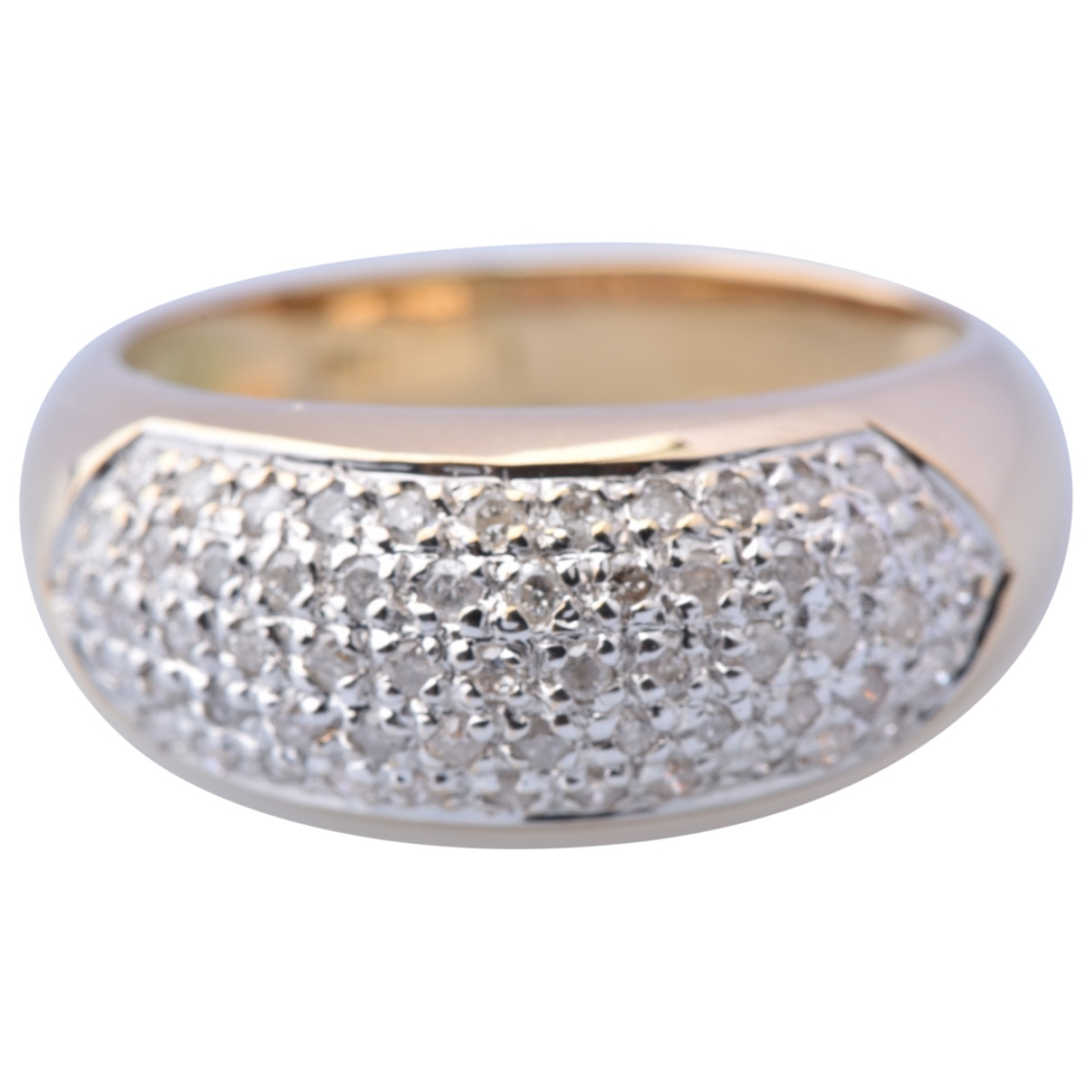 Non Signé / Unsigned Jonc White Yellow gold ring for Women \N