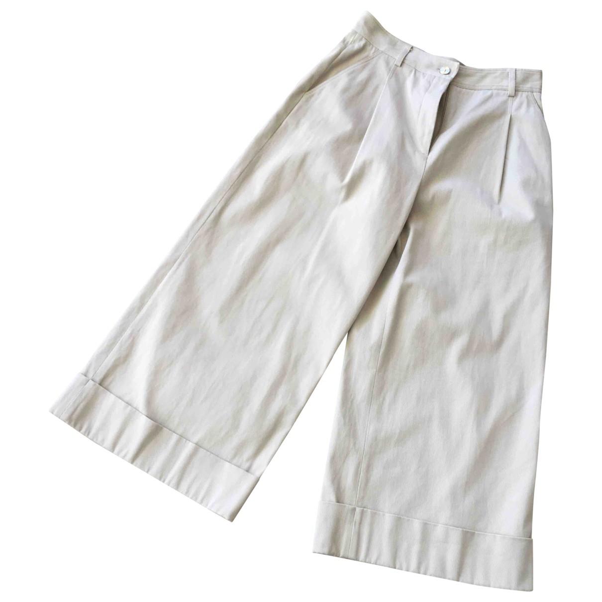 Tara Jarmon \N Beige Cotton Trousers for Women 38 FR