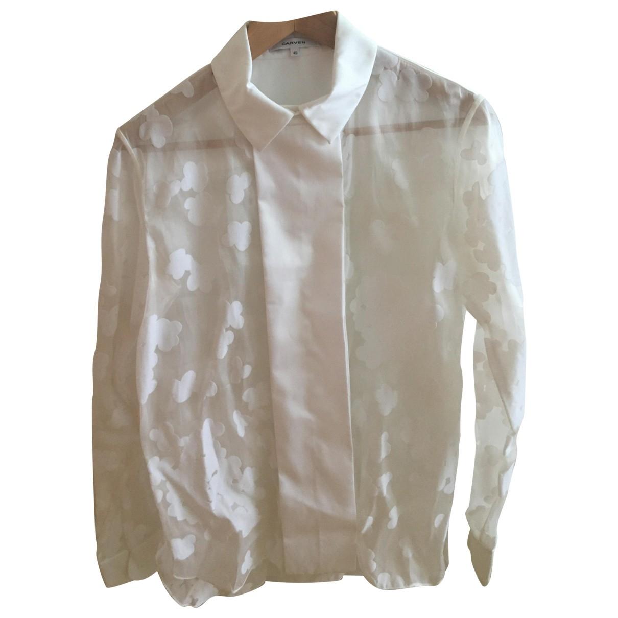 Carven - Top   pour femme en coton - blanc
